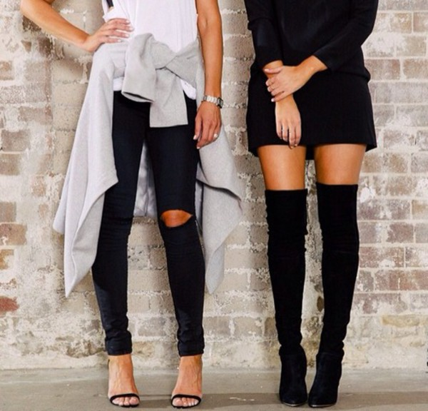 Over The Knee Boots With Heel - Cr Boot
