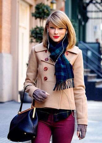 coat scarf taylor swift