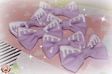 NEW HANDMADE LOLITA KAWAII PUNK KERA DECORA PURPLE PAINT DRIP BOWTIE PIN BOW PIN | eBay