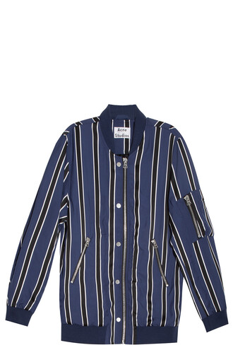 jacket striped jacket navy