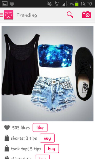 t-shirt space summer vans galacy galaxy print top blouse