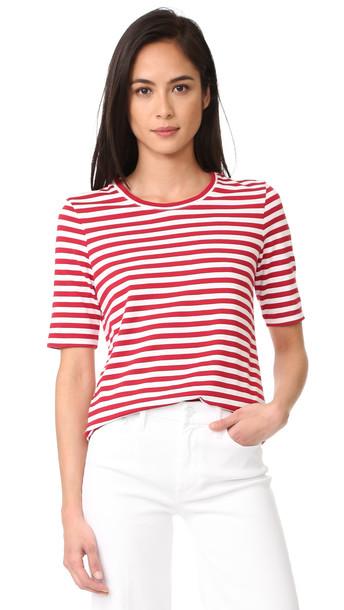 Ag Gracen Tee - Parisian Red/True White Stripe