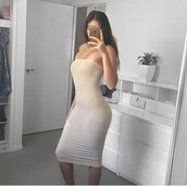 dress,nude,nude dress,bodycon,bodycon dress,midi dress,midi,strapless,strapless dress,party dress,sexy party dresses,sexy,sexy dress,party outfits,sexy outfit,summer dress,summer outfits,spring dress,spring outfits,classy dress,elegant dress,cocktail dress,cute dress,girly dress,date outfit,birthday dress,clubwear,club dress,homecoming,homecoming dress,wedding clothes,wedding guest,engagement party dress