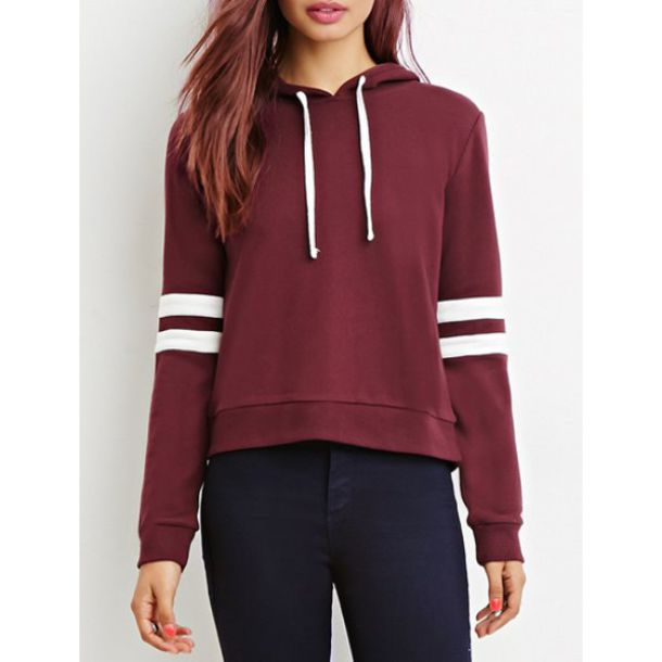 Sweater: baseball jacket, burgundy, casual, rose wholessale, crop ...