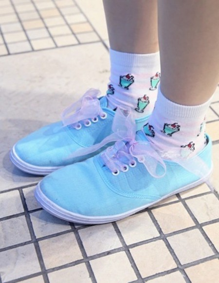 shoes vans ribbon ice cream