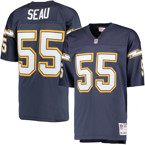 Men S Mitchell Amp Ness Junior Seau Navy San Diego Chargers