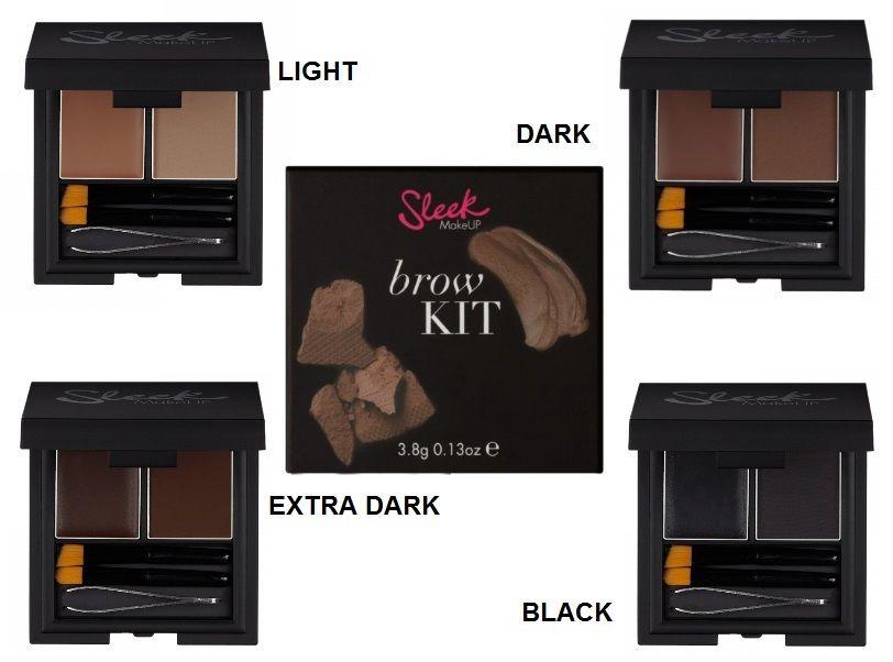 UK Sleek Makeup Eye Brow Kit Eyebrow Powder Highlighter Tweezers Shaper Brush