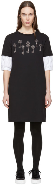 Alexander Mcqueen dress sweatshirt dress magic black