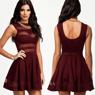 dress burgundy cute beautiful sexy short long medium colorful cut-out
