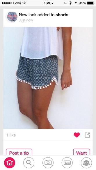 shorts blue boho bohemian wide tribal pattern ethnic summer vibes chic posh beautiful