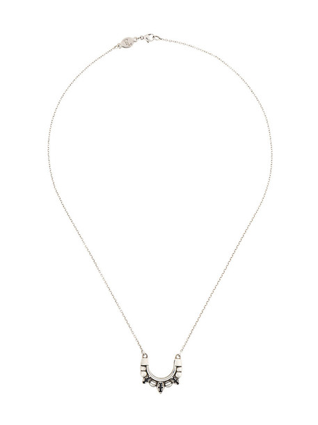 Pamela Love women necklace silver grey metallic jewels