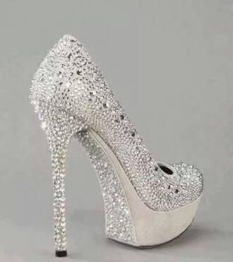 shoes pumps silver silver glitter