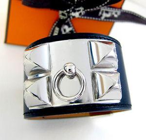 Auth Hermes Collier de Chien CDC Black Chamonix Bracelet PHW Small Receipt | eBay