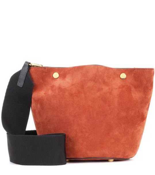 Marni Suede shoulder bag in brown