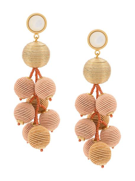 LIZZIE FORTUNATO JEWELS women earrings gold grey metallic jewels