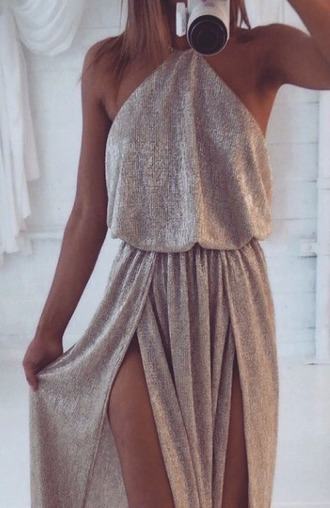 dress long dress long prom dress backless backless prom dress silver silver dress
