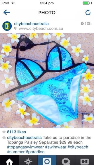 swimwear bikini flowers print triangle triangl tropical paisley bathers separates bikini top bikini bottoms city beach piping tie up pretty paisley bikini triangle bikini bikiniset