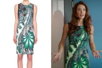 dress green green dress jane the virgin pretty flowers tropical