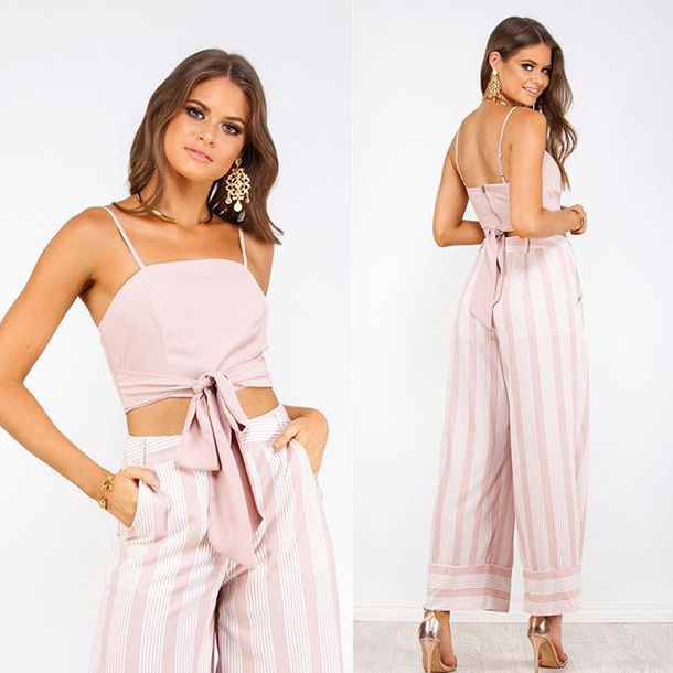 a966f0fa17 pants white closet pink blushs et two-piece two-piece matching set pink set