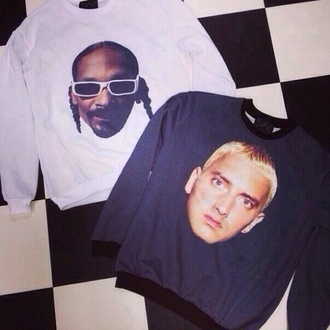 sweatshirt eminem snoop dogg swag cool style topshop rap music 2014 great supreme sportswear