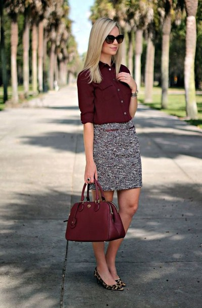 5c38a984e blouse maroon blouse cat eye leopard print ballet maroon bag black  sunglasses ballet flats office outfits