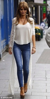 sweater,only way is essex,cardigan,cream lace
