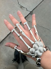 jewels,fashion,jewelry,ring,bracelets,Accessory,statement bracelet,hand jewelry,cool,awesomness,braclet,bones,wrist,fingers,silver,skeleton,skull hands,skull,chic,emo,so awesome,beautiful,grunge,pale,accessories,silver ring,hair accessory,skull ring,gloves,jewelry ring,jewelry store online,hipster,edgy,swag,style,trendy,stylish,cute,summer,tumblr,alternative,girl,streetwear,blogger,goth hipster,grunge jewelry,grunge wishlist,streetstyle,goth,dope,on point clothing,hand,silver jewelry,punk bracelet,jewerly,cool bracelet,hand harness