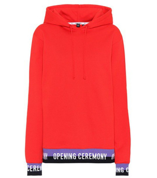 opening ceremony hoodie cotton red sweater