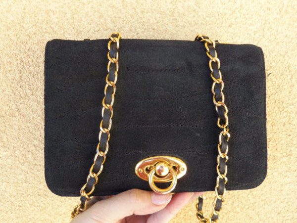 bag vintage bag quilted bag chain link bag vintage chanel clutch handbag