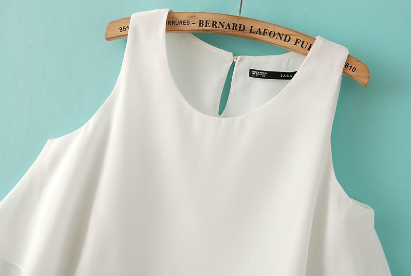 Pure White Layered Hem Vest