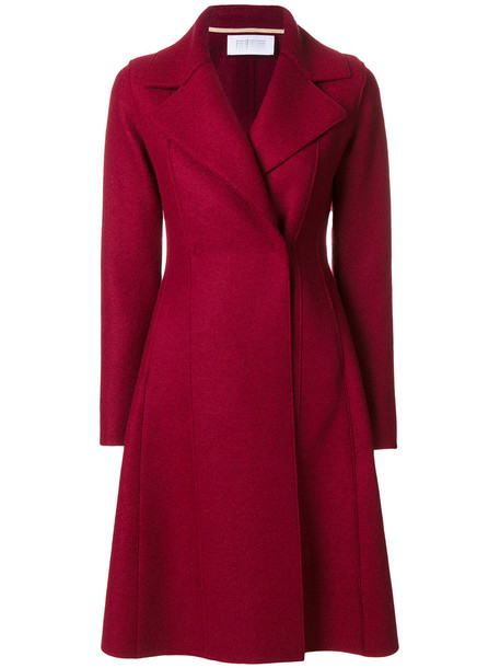 HARRIS WHARF LONDON coat double breasted women wool red
