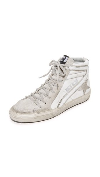 Golden goose glitter high sneakers high top sneakers silver white silver glitter shoes