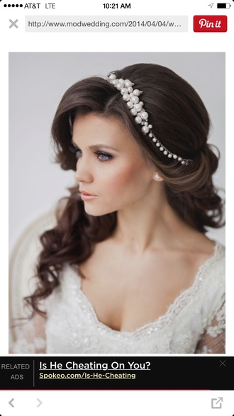 hair accessory pearl classy white hair band wedding hairstyles wedding accessories