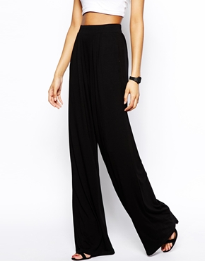 Tall | ASOS TALL Basic Wide Leg Trouser at ASOS