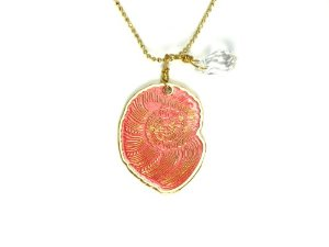 Amazon.com: pajarolimon sea shells 24k gold plated and hand painted necklace: pendant necklaces: jewelry