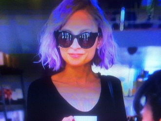 nicole richie purple hair sunglasses celebrity style