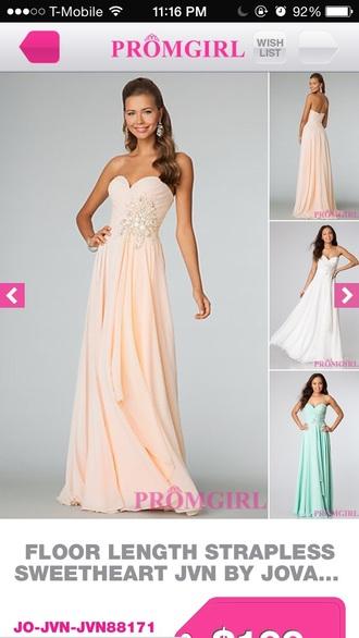 dress peach dress prom dress