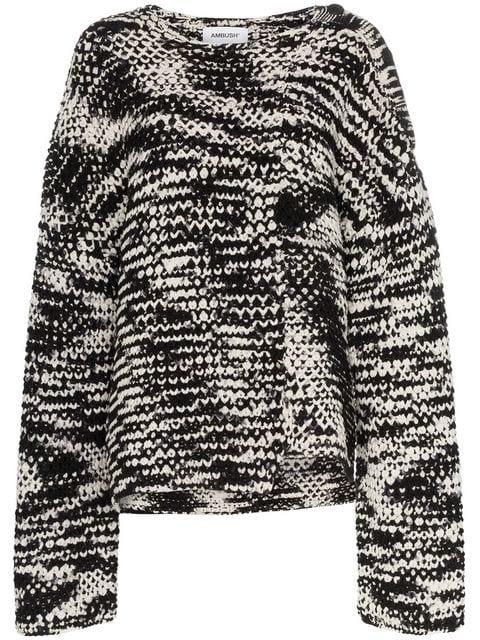 Ambush Waves Knitted Oversized Sweater - Farfetch