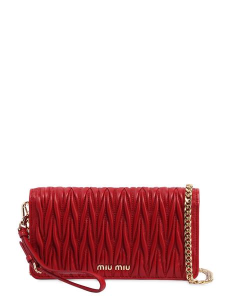 mini quilted bag shoulder bag leather red
