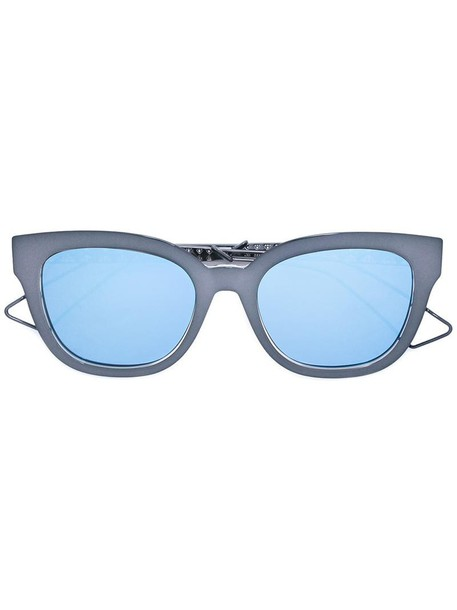 Dior Eyewear metal women sunglasses grey metallic