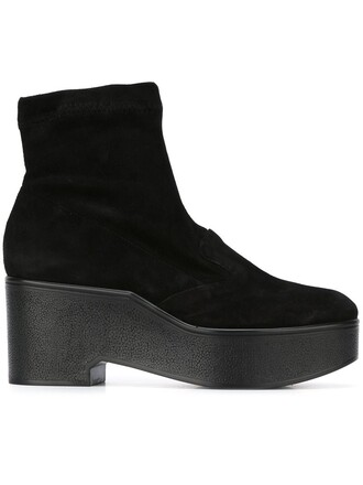 women spandex boots ankle boots leather suede black shoes