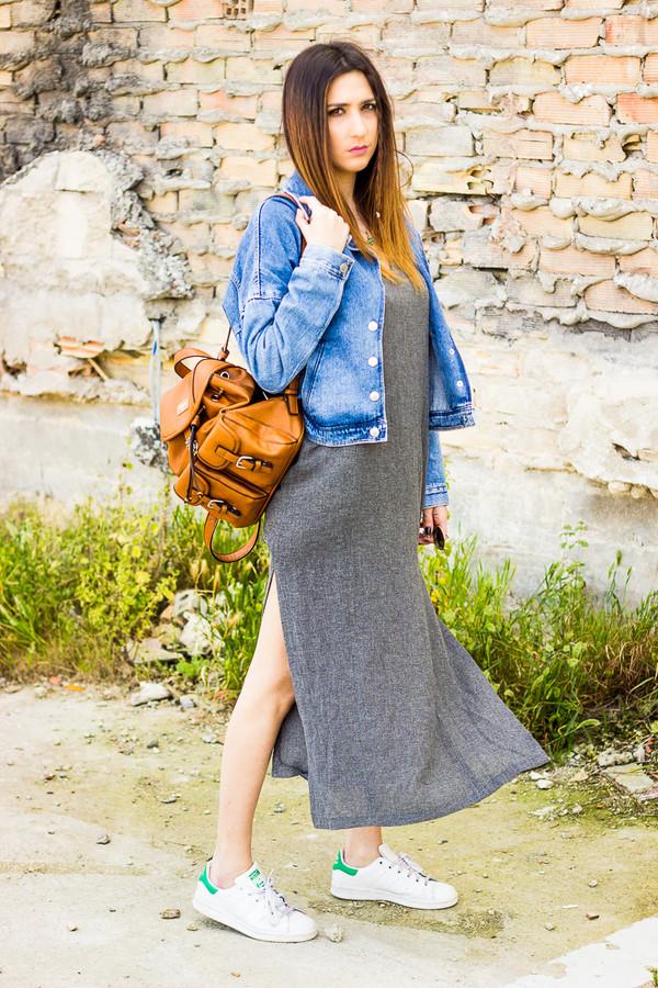 Grey Side-Slit Cami Dress