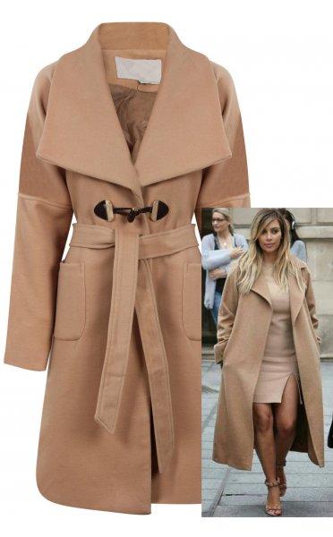 Celeb style trench coat in beige