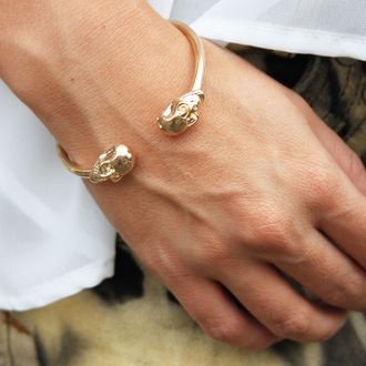 jewels bangle bracelets jewelry skull gothic grunge