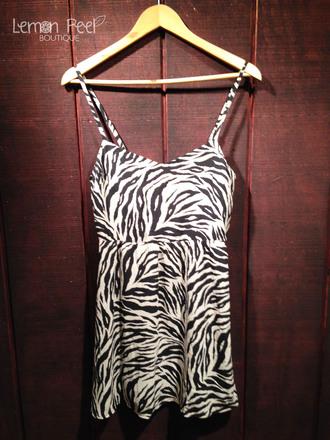 dress zebra print zebra spaghetti strap