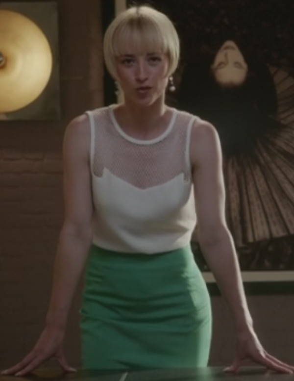 karine vanasse revenge pencil skirt top