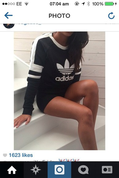 top hoodie logo jumper adidas sportswear chic chill comfy