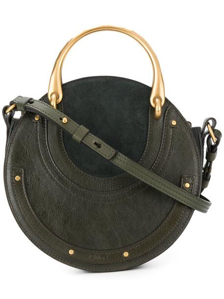 Chloe women bag shoulder bag leather green