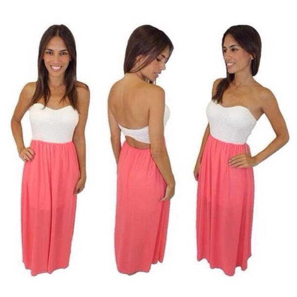 dress pink vit