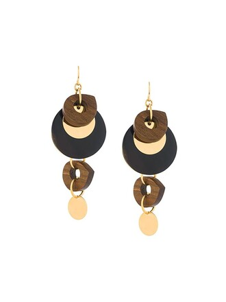 earrings pendant brown jewels